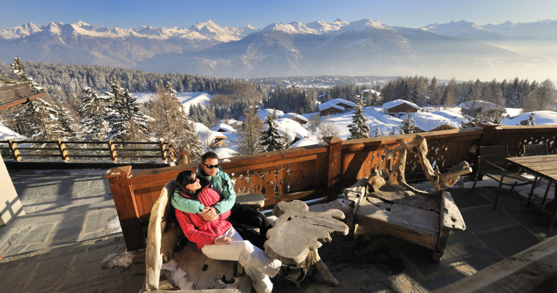 Luxury chalets and hotels in Crans Montana resort, Switzerland