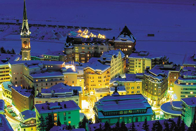 Luxury chalets and hotels in St Moritz, Switzerland