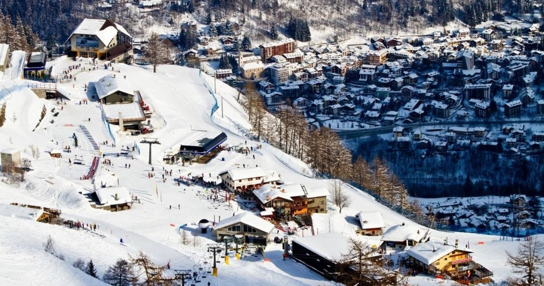 Luxury ski resort Courmayeur Italy