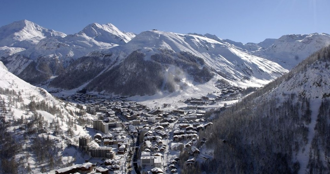 Luxury ski resort Val d'Isere France