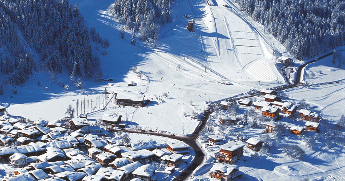 Luxury ski resort Courchevel France