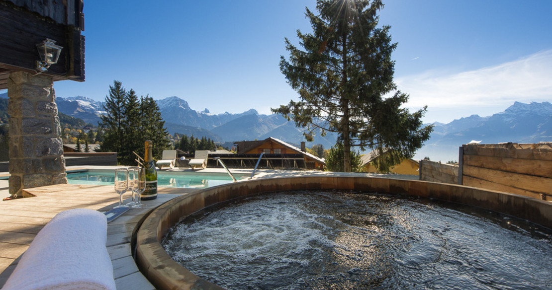 Luxury ski chalets with hot tub - this one is in Verbier, Switzerland