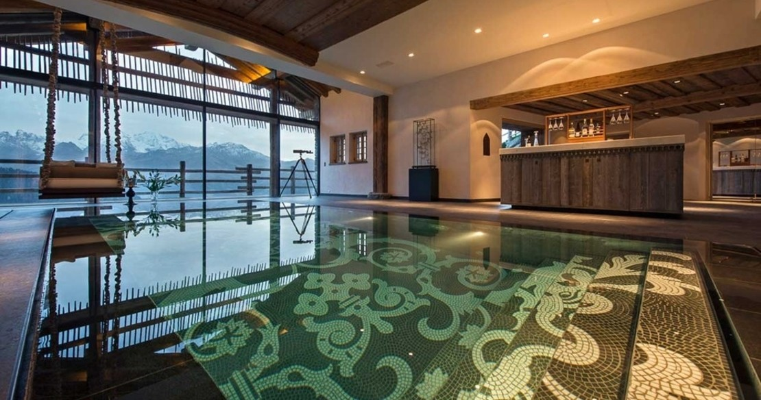 Luxury ski chalets with hot tub - check out this whopper