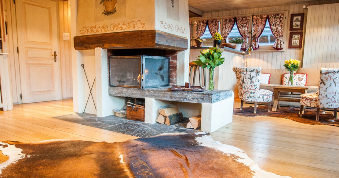 Luxury Chalet Ker Praet Verbier - fireplace