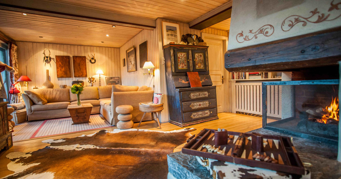 Luxury Chalet Ker Praet Verbier - sitting room