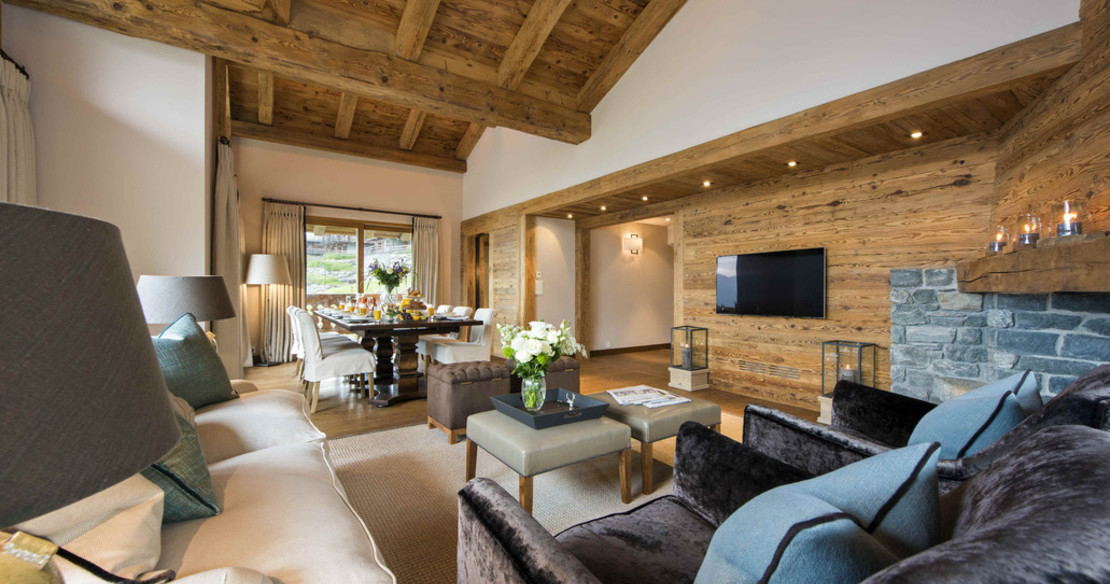 The Alpine Estate Verbier - Chalet Sirocco sitting room
