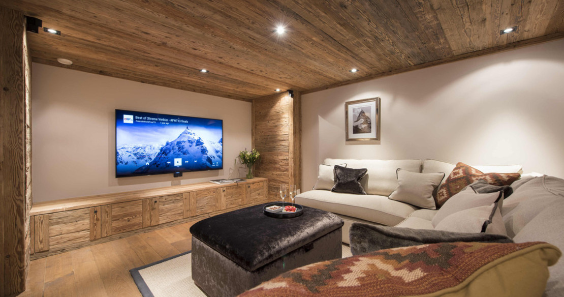 The Alpine Estate Verbier - Chalet Sirocco TV room
