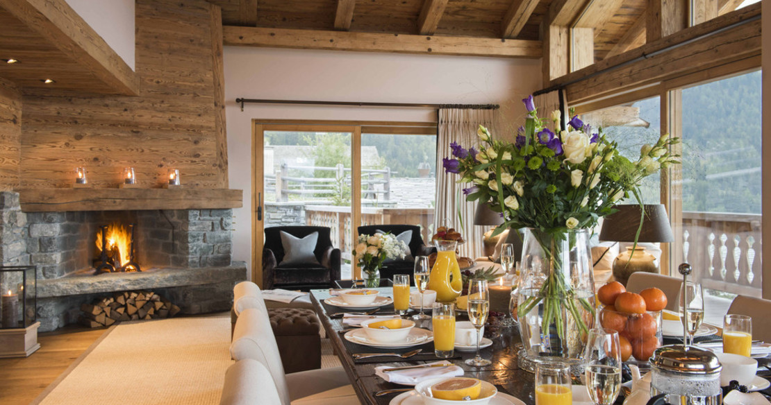 Chalet Sirocco Verbier - dining table