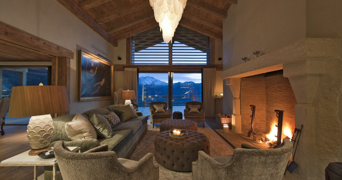 The Alpine Estate Verbier - Chalet Norte sitting room