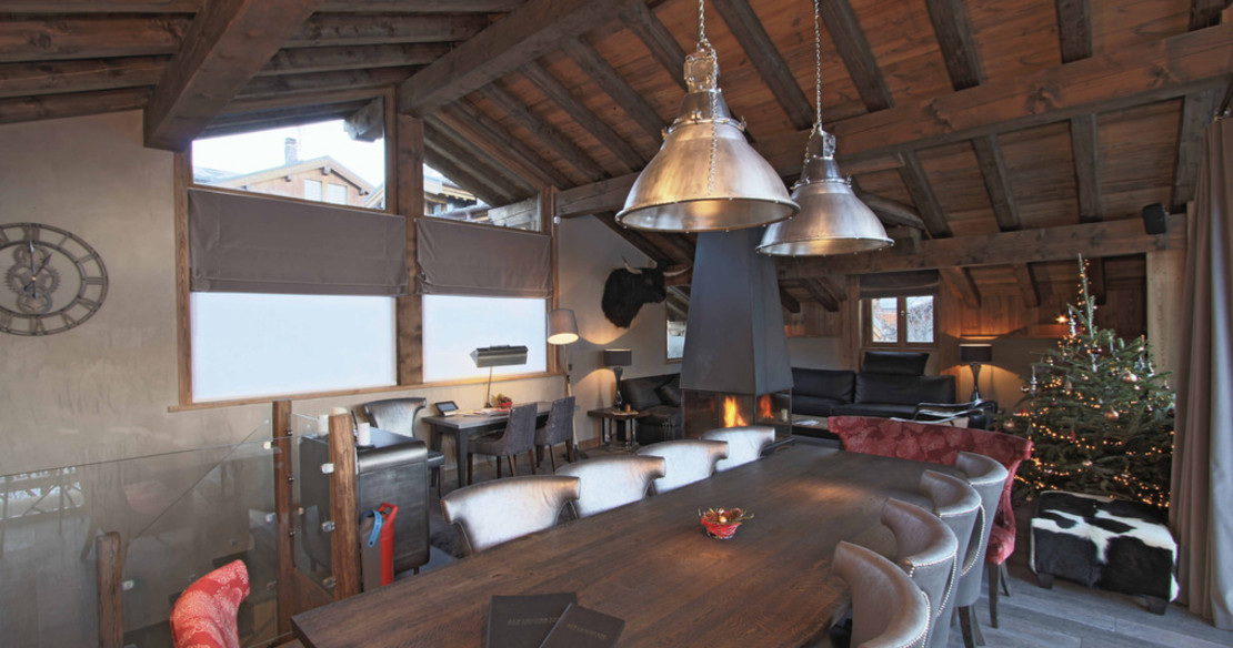 Chalet Dulcis Casu Courchevel Le Praz - dining area