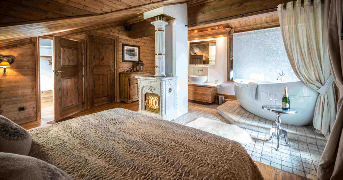 Chalet Hermine Courchevel 1850 - master bedroom