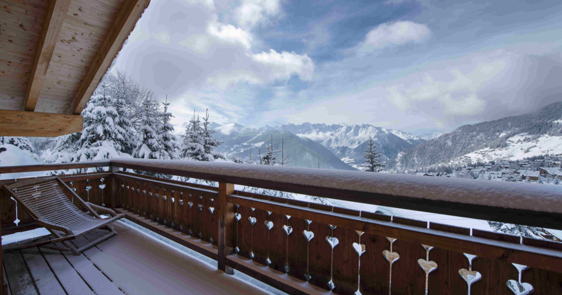 Chalet Attelas Verbier - view from balcony