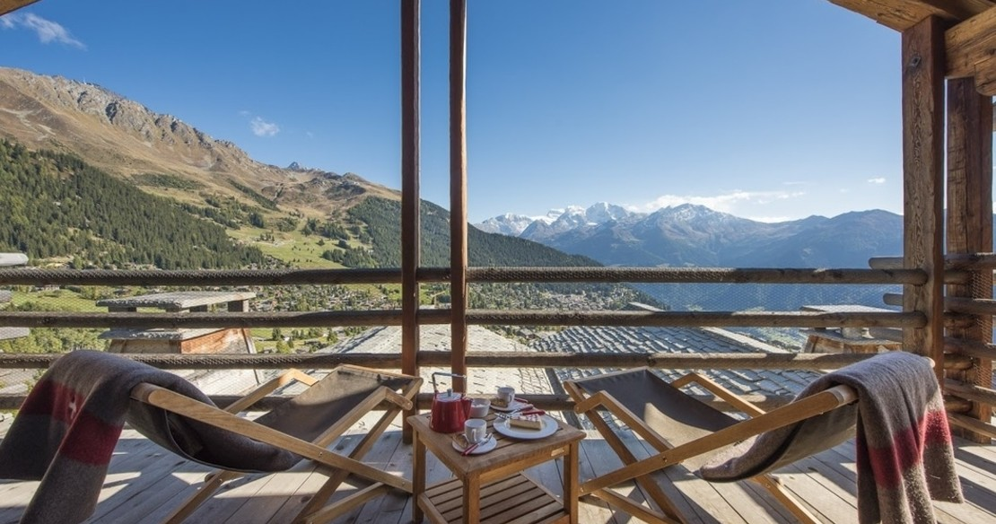 Chalet Orsini Verbier - view from balcony