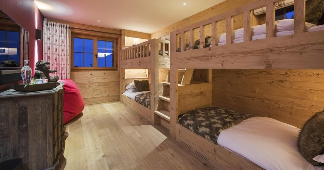 Chalet Chouqui Verbier - children's bunk room