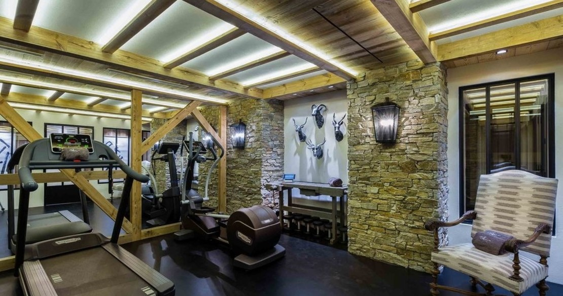 Chalet Bastidons, Courchevel 1850, gym fitness room