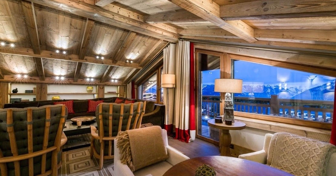 Chalet Nanuq, Courchevel 1850, the living room