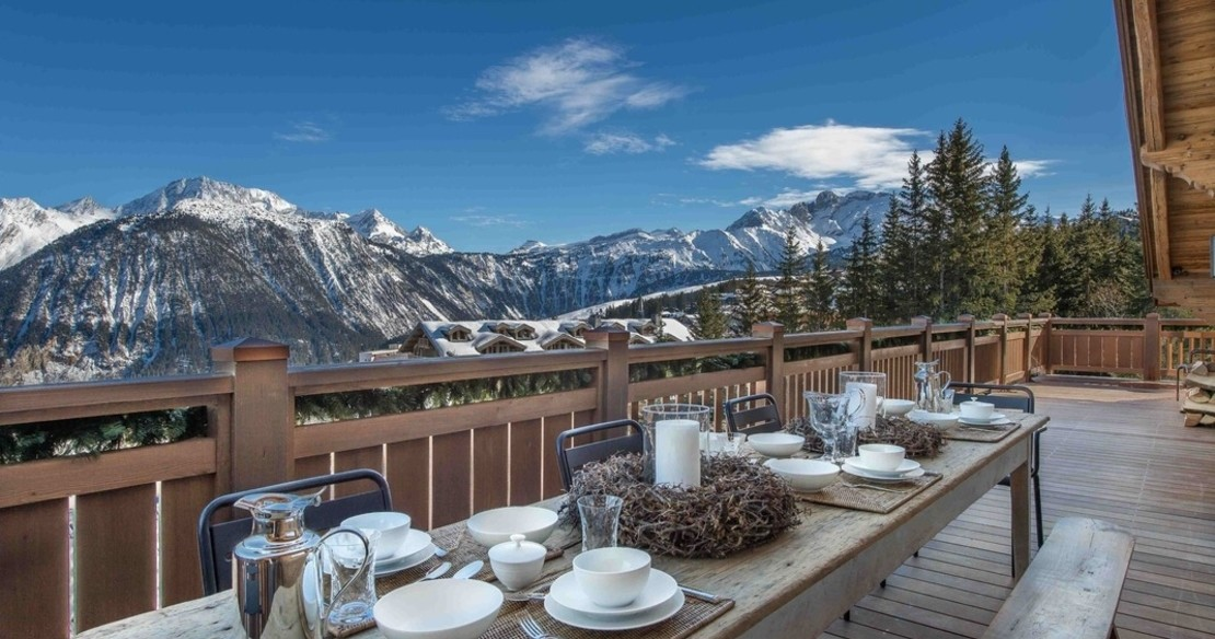 Chalet Cryst'Aile, Courchevel 1850, view from the terrace
