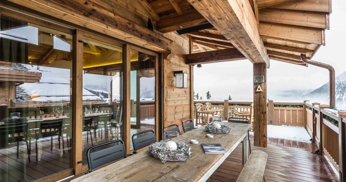 Chalet Bastidons, Courchevel 1850, terrace