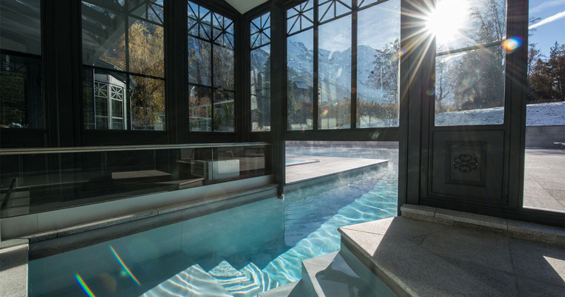 Hotel Mont Blanc, Chamonix, swimming pool