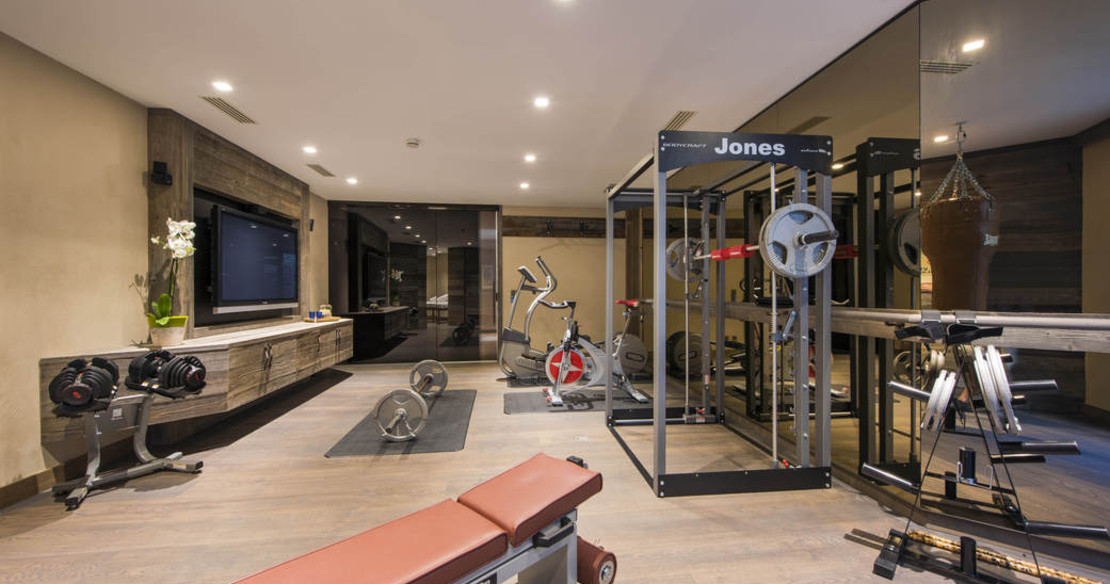The gym at Chalet Aurora