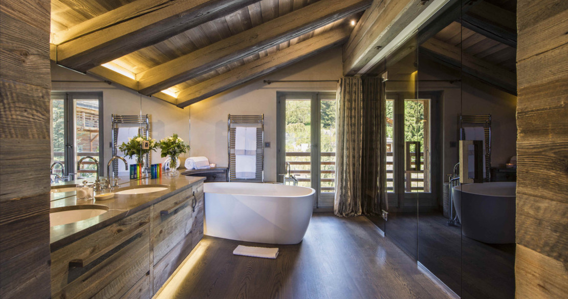 Master bedroom bathroom - Chalet Aurora - Verbier