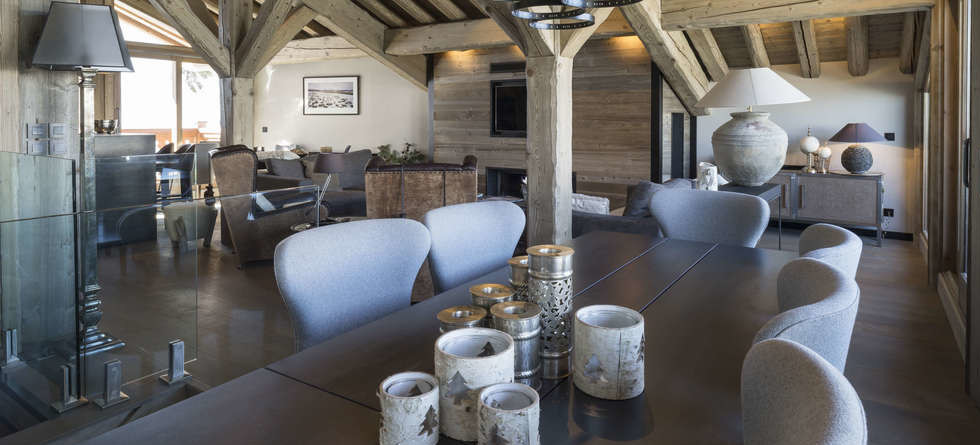 Chalet Colombe Courchevel dining