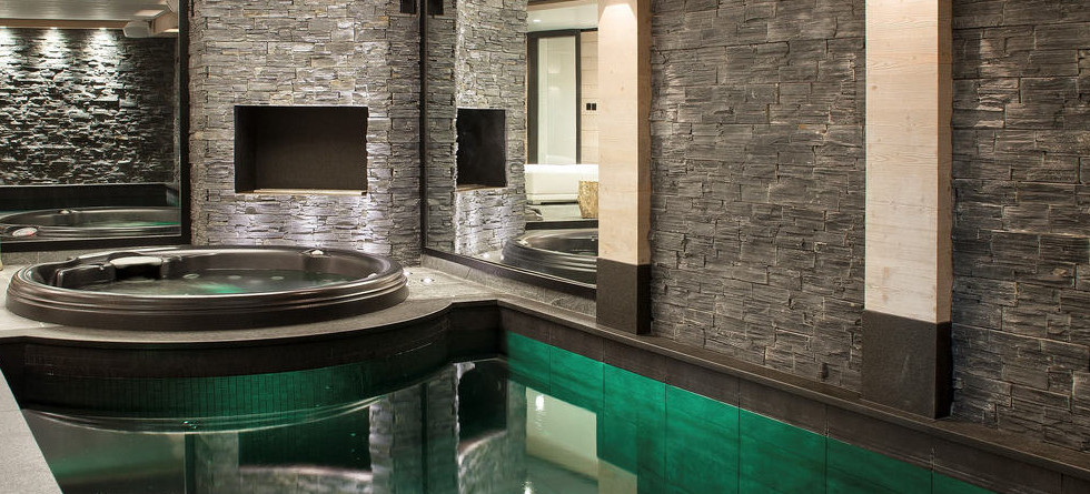 Chalet Colombe Courchevel pool