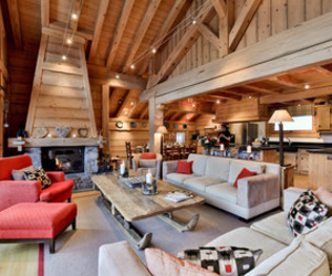 Chalet du vallon meribel village sitting room